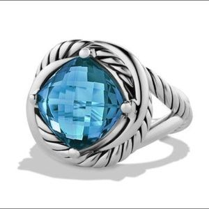 David Yurman Infinity Ring in Hampton Blue 6 NWOT